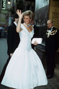 Princess Diana - White Evening Gown