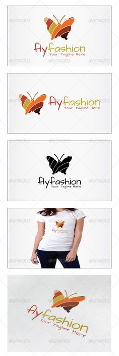 Fly Fashion Logo — Photoshop PSD #makeup line #butterfly • Download here → https://graphicriver.net/item/fly-fashion-logo/5228193?ref=pxcr