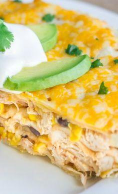 Southwestern Chicken Taco Pie
