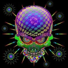 ☠ #Crazy #Skull #Psychedelic #Explosion by #BluedarkArt ☠ #Vector #illustration on #Fotolia 3:-)  https://it.fotolia.com/id/71310182