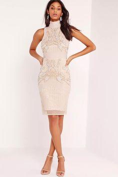 TopShop Premium Lace Bodycon Dress - Polyvore