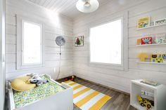 log house in Naantali, Finland Kids Bedroom, Bedroom Decor, Kids Decor, Home Decor, Kid Spaces, Kid Beds, Log Homes, Furniture Decor, Bookshelves