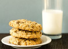 Salted Espresso Oatmeal Chocolate Chip Cookies