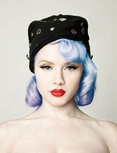 Blue vintage hair