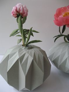 Paper Vases by Romy Kuhne, via Behance