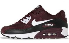 Nike Air Max-Burgundy    Leather, suede and corduroy.