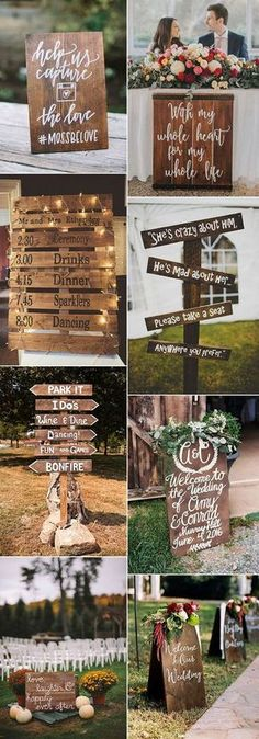 super easy diy rustic wood wedding sign decoration ideas