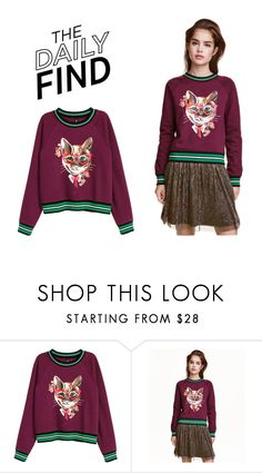 """""""The Daily Find: H&M Sweatshirt"""" by polyvore-editorial ❤ liked on Polyvore featuring DailyFind"""