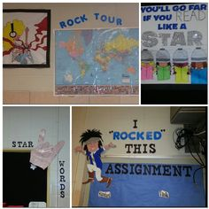 """My classroom theme this year """"Rock n Roll"""" our class will rock this year."""