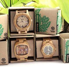 Bamboo watch packaging