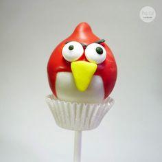 Cake Pop Angry Bird rot rund