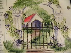 IRON-FENCE Arch, covered bridge, flowers greenery sold separately. Made by Art Impressions. You can purchase these  in  my ebay store. Click on picture & it will take you into this listing in my Ebay Store. .  My ebay Store is:  Pat's Rubber Stamps & Scrapbooks or call me 423-357-4334 with order. We take PayPal. You get free shipping with $30.00 or more