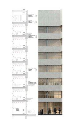 Section Drawing Architecture, Maquette Architecture, Architecture Concept Diagram, Architecture Panel, Architecture Graphics, Architecture Details, Interior Architecture, Presentation Board Design, Urban Design Diagram