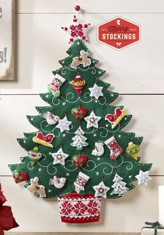 Just released, Bucilla Nordic Christmas Tree Advent Calendar. Simply awesome…