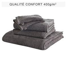 Lot de 5 éponges unies coton 400 g/m² - 3Suisses