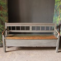 Small Hungarian Antique Pine Settle