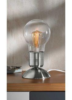 Lampe tactile Edison, bpc living, argent métallique