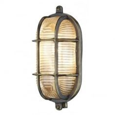 Admiral Small Oval Antique Brass Outdoor Wall Light IP64 ADM5275