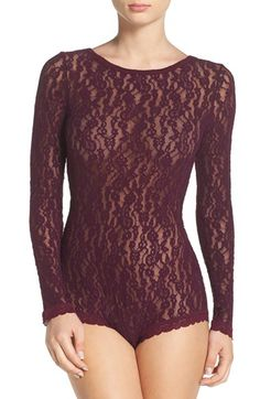 Hanky Panky Hanky Panky Ariel Lace Bodysuit available at #Nordstrom