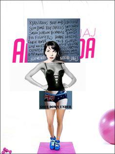 Collage-covers. Nicki Minaj, Amanda Palmer, Whitney Houston, Norah Jones.