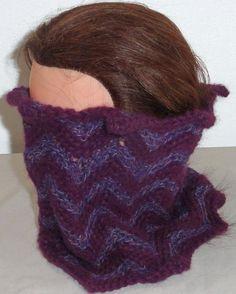 Neck Warmer, Luxurious, Purple Multi-Colored Crochet Neck warmer, Cowls, 100%  Baby Alpaca Yarn, Beautiful two tone neck warmer - pinned by pin4etsy.com