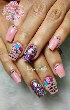 Sassy Nails, Love Nails, Fun Nails, Pretty Nails, Cute Nail Art, Beautiful Nail Art, Nail Designs Spring, Nail Art Designs, Unicorn Nails