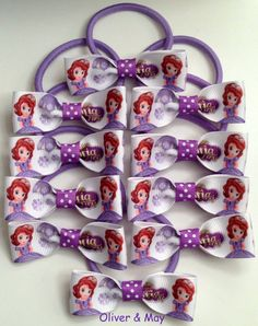 8 Sofia the First Birthday Party Favors Handmade by OliverandMay