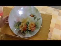 from start to finish... quick film on how to paint roses on a porcelain plate, set to music