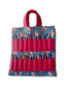 Coloring Book and Crayon Holder Bag Hello Kitty by Shoppebylola Crayon  Holder 80274d0f5bc3d