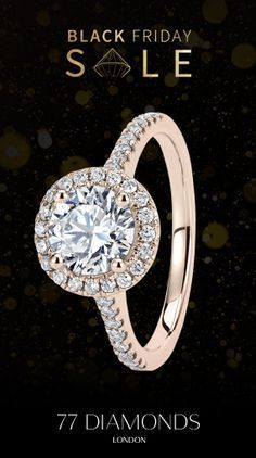 Black Friday is here with up to 30% off all diamond jewellery! Handcrafted by us, made just for you. Design your own engagement ring. #sale #engagementring #diamonds #love #wedding #style #halo #rosegold