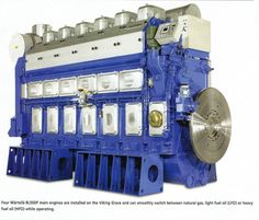 A Wartsila duel fuel ship engine with Woodward state-of-the-art controls.