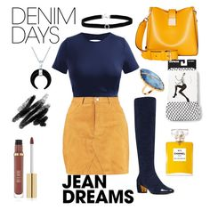 """Jean Dreams"" by th3futur3isf3mal3 on Polyvore featuring Boohoo, Express, Nine West, Modalu, Lana, BillyTheTree, Bling Jewelry and denimskirts"