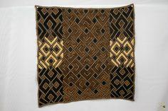 Kuba Cloth ( Shoowa ) Raffia Textile - Congo DRC Congo, Embroidery Thread, Weaving, Textiles, Stitch, Rugs, Ebay, Clothes, Decor
