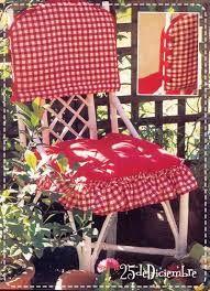 Resultado de imagen para moldes forros sillas navideños