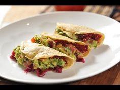Tacos de jamaica con guacamole - Recetas de cocina - Hibiscus tacos with guacamole