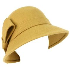 935e09043b4 Amazon.com  100% Wool Winter Structured Cloche Bucket Bell Church Stitch  Ribbon Hat Camel  Clothing