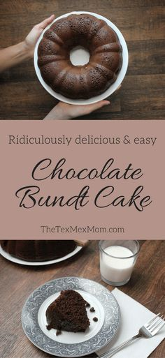 This chocolate bundt cake is perfect for when I want to make an easy but amazing dessert. No one would guess that the recipe calls for a box mix!