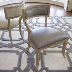Global Views Furniture Klismos Grey Leather Chair @Layla Grayce