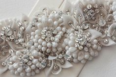 Bridal Sash in floral pattern Gigilio 28L X por EnrichbyMillie, $310.00