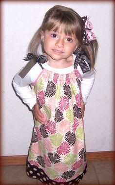 Handmade Children Little Girls Pillowcase Dress by beingmadenew, $24.95