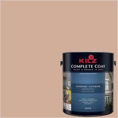 Kilz Complete Coat Interior/Exterior Paint & Primer in One, #LB240-01 Brandy Cream, Beige
