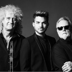 Brian May, Adam Lambert & Roger Taylor, summer of 2014, embarking on Queen + Adam Lambert 35-date tour