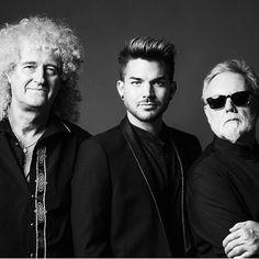 Brian May, Adam Lambert & Roger Taylor, summer of 2014, embarking on Queen + Adam Lambert 35-date tour