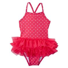 Perfect suit for monogramming! Because let's face it, there's not much cuter than a monogrammed tutu swimsuit. :-)