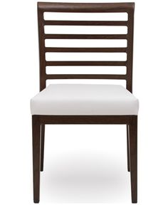 The W1.3 side chair from Woodlook. Woodlook combines the authentic look of real wood with a lightweight and robust aluminum frame.