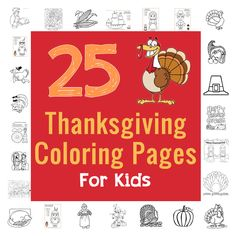 25 Thanksgiving coloring pages to keep your little ones busy! #Thanksgiving #kids