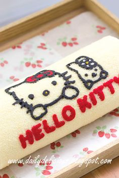 dailydelicious: Hello Kitty Rolled Cake: Cute rolled cake