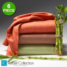 6 Piece Set: The Original Best Bamboo™ Hotel Lexington 2200 Series Organic Bed Sheets by RC Collection
