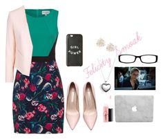 """Felicity Smoak"" by sneha-ven on Polyvore featuring Cara, Pandora, MAC Cosmetics, Topshop, Chico's, women's clothing, women, female, woman and misses"