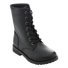 Enhance your little girl's unique style with these lace -up boots. She can wear the shaft of the boot folded down or extended, giving her two different looks. Color options: Black, Brown, Coral, Navy,